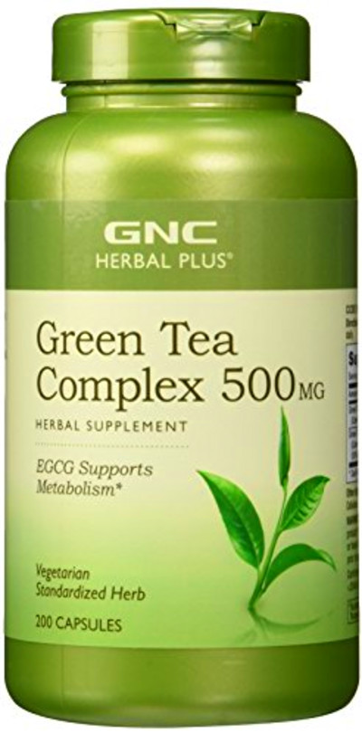 GNC Herbal Plus Standardized Green Tea Complex 500 mg 200 ...