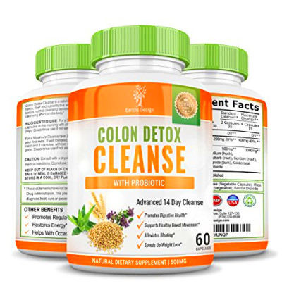 Colon Detox Cleanse, Super 14 Day Body Cleansing Pills for ...