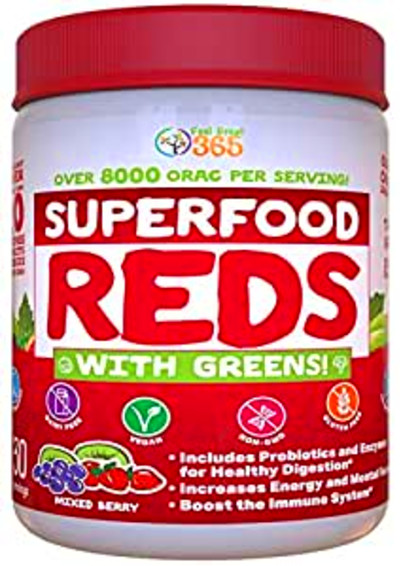 Amazon.com: Superfood Vital Reds with Greens by Feel Great 365, Doctor Formulated, Contains ...