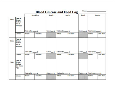 FREE 16+ Sample Printable Food Log Templates in PDF | DOC | Apple Pages