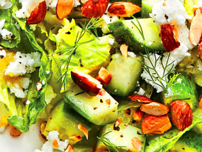 Crunchy Cucumber, Feta, and Almond Salad Recipe - Cooking Light