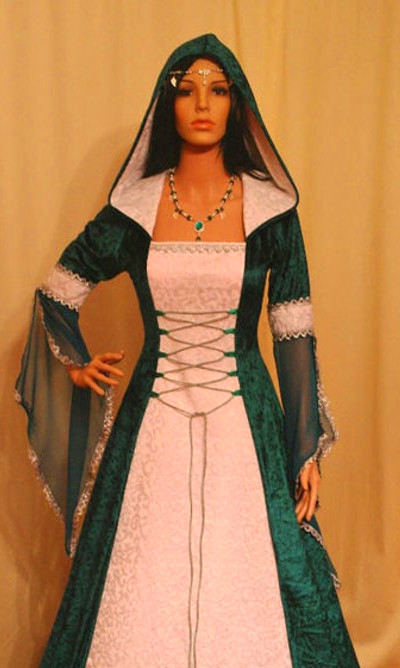 medieval dress handfasting dress renaissance by camelotcostumes