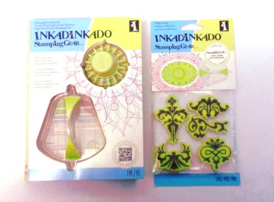 Inkadinkado Stamping Gear Intro Kit and extra set of stamps a