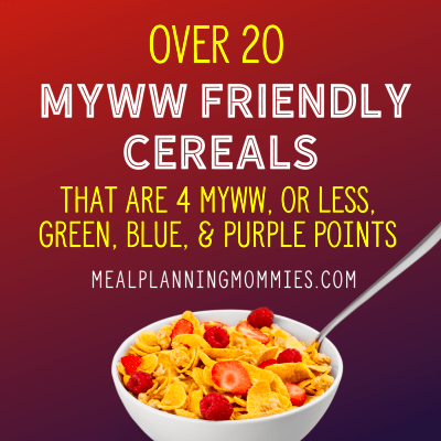 20+ Cereals that are low in MyWW Green, Blue, and Purple ...