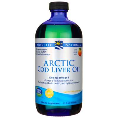 Nordic Naturals Arctic Cod Liver Oil - Orange 16 fl oz ...