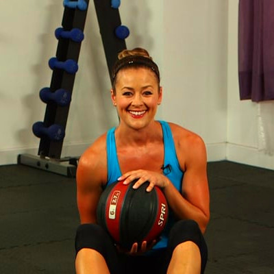 How to Do a Seated Russian Twist With a Medicine Ball | POPSUGAR Fitness