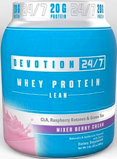 Devotion 24/7™ Lean Whey Protein Mixed Berry with CLA, Raspberry ...