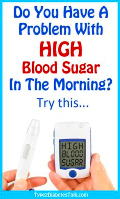 high blood sugar in the morning