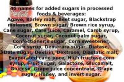 avoid sneaky or not so sneaky #sugar additives in processed foods and ...