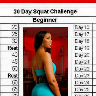 JJ Smith's 30 Day Squat Challenge (Beginner) | Fitness | Pinterest ...