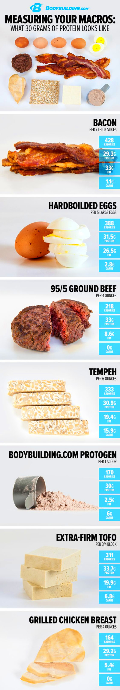 Measuring Your Macros: What 30 Grams of Protein Looks Like ...