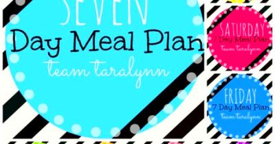 Easy to follow! Seven Day Meal Plan! StartingTomorrow! | Healthy ...