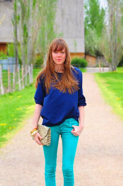 1000+ images about How to wear COLOR skinny jeans on ...
