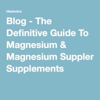1000+ ideas about Magnesium Supplements on Pinterest | Vitamins, Health and Best magnesium ...