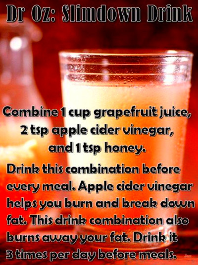 Dr Oz: Slimdown Drink - Combine 1 cup grapefruit juice, 2 ...