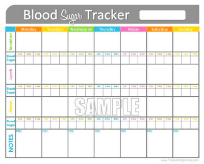 Blood Sugar Tracker - Printable for Health, Medical ...