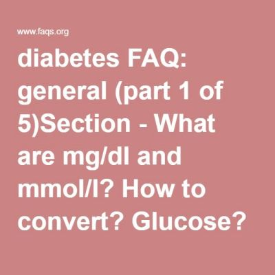 ... - What are mg/dl and mmol/l? How to convert? Glucose? Cholesterol