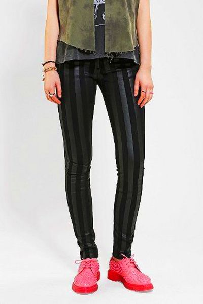 Tripp NYC Coated Striped Skinny Jean | Skinny Jeans, Nyc and Urban