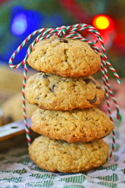 Ooey Gooey Chocolate Chip Oatmeal Cookies Made with ...