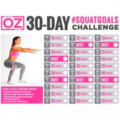 my weightloss journey: Dr Oz's 30 Day Squat Challenge ...