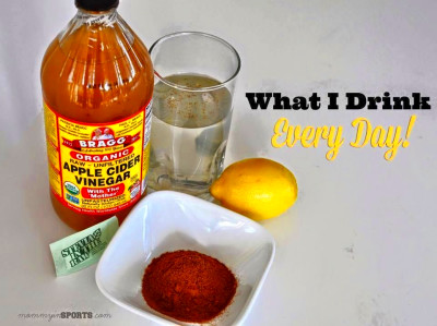The recipe: 4-8 ounces of warm water, 2 TBSP Apple Cider Vinegar (ACV), squeeze of lemon, and a ...