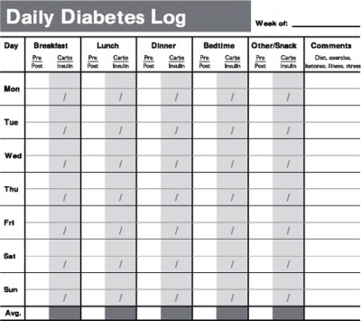 diabetic diary template the diabetics blog