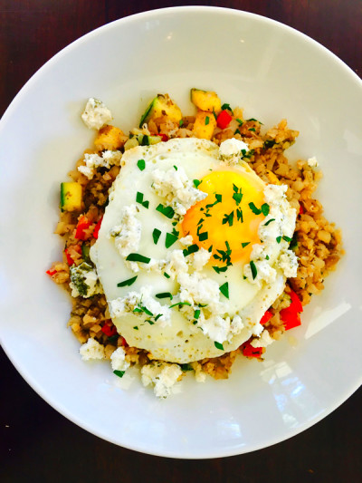 Cauliflower Rice with Eggs and Goat Cheese – Seefit ...