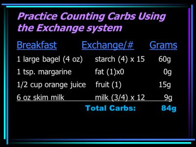 Improving Diabetes Control with Accurate Carb Counting - ppt download
