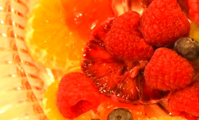 Fruit Dessert with low carb Raspberry Sauce | Type2 Delicious