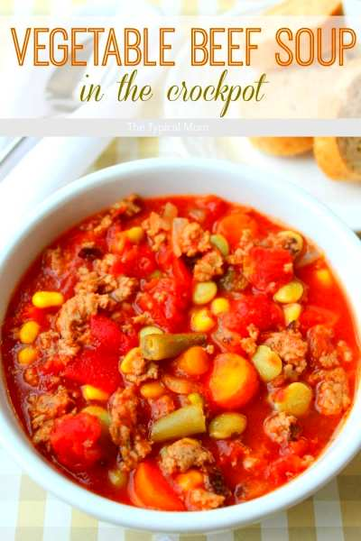 Easy Crock Pot Vegetable Beef Soup · The Typical Mom