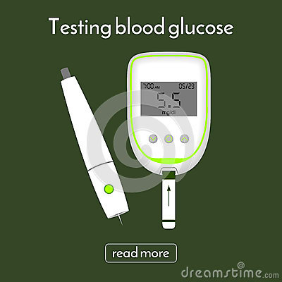 Device For Measuring Blood Sugar And A Lancet. Glucose Meter Stock Photo - Image: 84870763