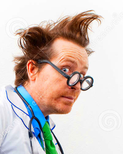 Funny doctor stock image. Image of doctor, face, notebook - 29433443