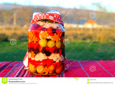 Traditional Food In Romania: Ornate Pickles Jar Royalty ...