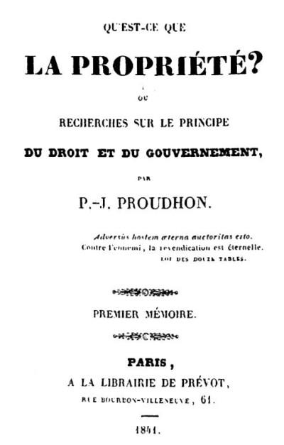 Que É a Propriedade? – Wikipédia, a enciclopédia livre