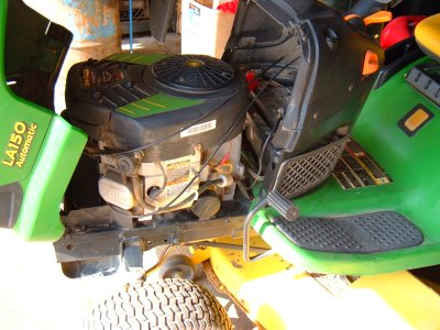I have a Deere LA145 with about 130 hours. at the end of ...