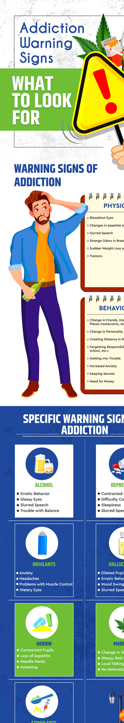 Addiction Warning Signs: What to Look For - Best Infographics