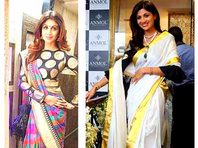 5 Blouse Patterns That You Can Totally Steal From Shilpa Shetty - Boldsky