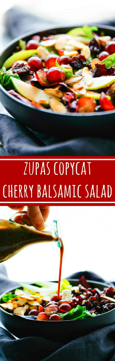 Cherry Balsamic Mixed Greens Salad | Chelsea's Messy Apron
