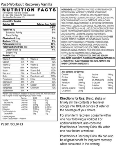 Advocare Meal Replacement Shake Nutrition Label – Besto Blog