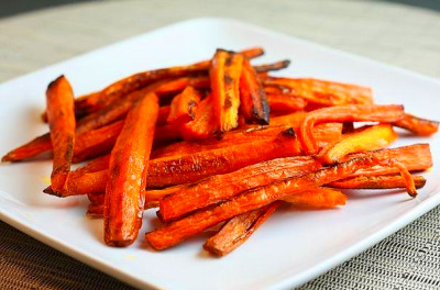 Foodista   Quick and Easy Baked Carrot French Fries