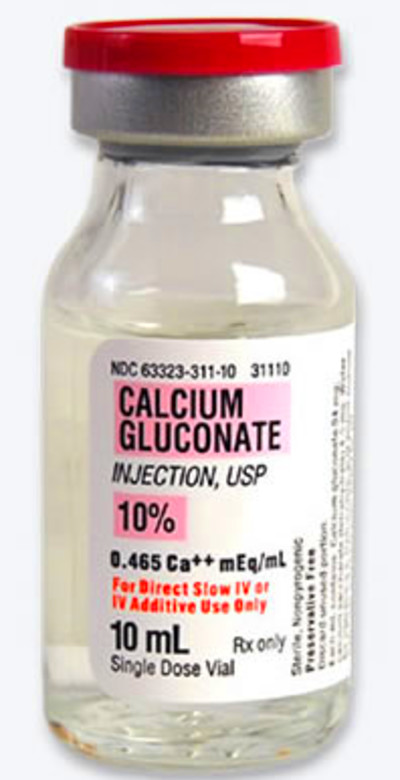 Greater Miami Valley EMS Council - Virtual Drug Bag - Calcium Gluconate