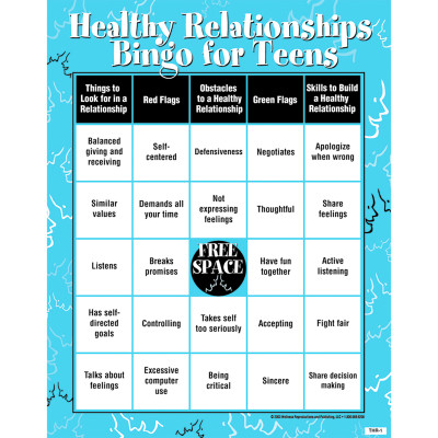 Healthy Relationships Bingo For Teens | Health Edco