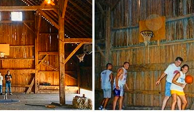 This Old Barn Got a Face Lift and Became a Basketball Court | Reader's Digest