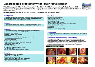 Laparoscopic Proctectomy for Lower Rectal Cancer - SAGES ...