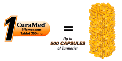 CuraMed Effervescent Tablets® Liquid Curcumin | Terry Naturally Vitamins