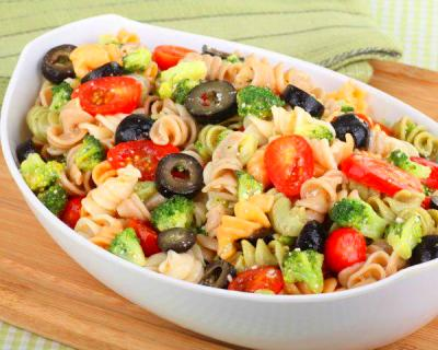 Pasta Salad with Chicken or Turkey Recipe by Oswald Rivera