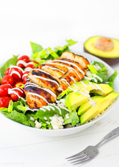 Grilled Buffalo Chicken Salad recipe with Easy Ranch ...
