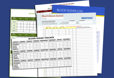 Plus Free Printable Blood Sugar Log Templates