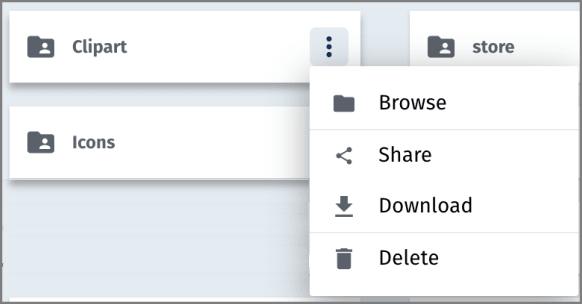 Folder grid options