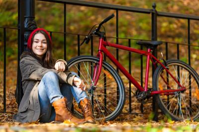 Red bike photo